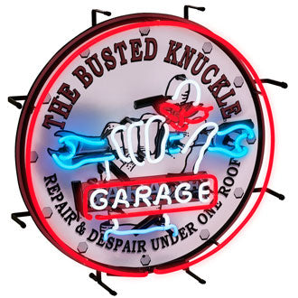The Busted Knuckle Garage Neon Sign