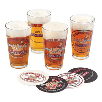 The Busted Knuckle Garage Pint Glass Gift Set