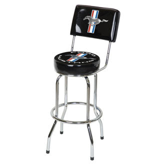 Ford Mustang Bar Stool w/Backrest