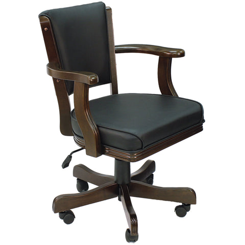 Swiveled Game Chair w/Adjustable Height & Casters