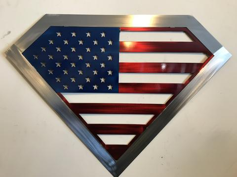 Super America Metal Art