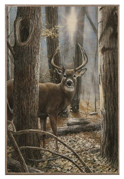 Woodland Sentry Buck Wood Photo Board