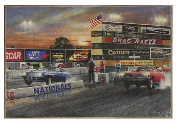 Drag Race Nationals Wood Photo Board