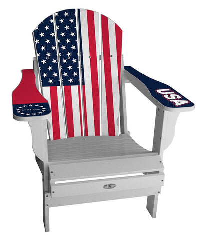 USA Flag Adirondack Chair