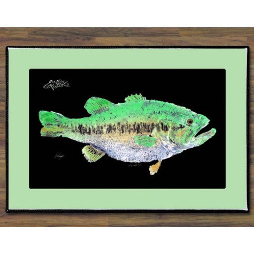 Realfish Large-Mouth Bass Floor Mat