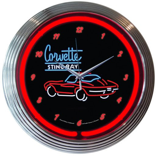 GM Corvette SR Neon Clock