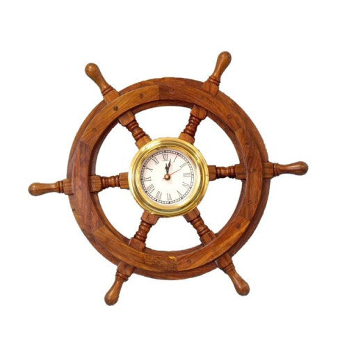"18"" Ship Wheel Clock"
