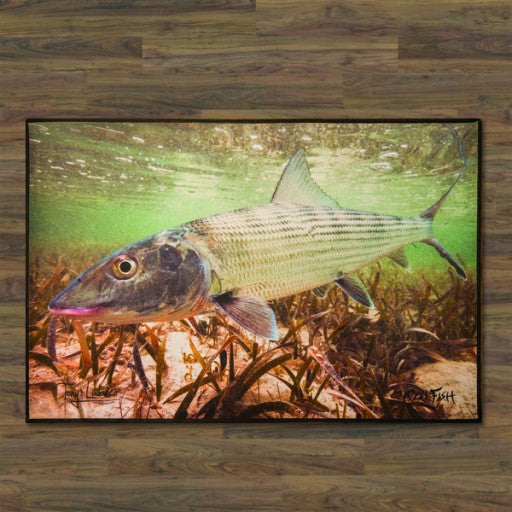 "Bonefish ""Grey Ghost"" Floor Mat"