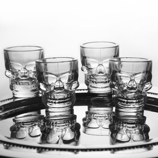 Skull Shot Glass Set - 4 Pack