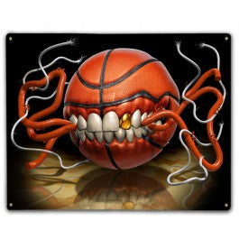 Hoop Monster Metal Sign