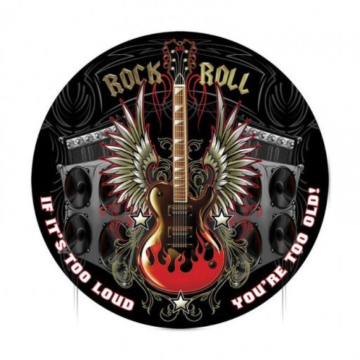 Rock and Roll Metal Sign