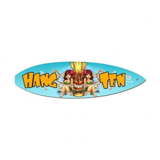 Hang Ten - Surfboard Metal Sign