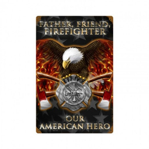 Firefighter Metal Sign
