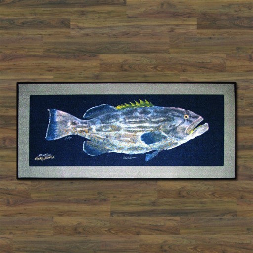 Realfish Black Grouper Floor Mat