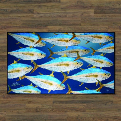 Realfish School of Tuna Floor Mat