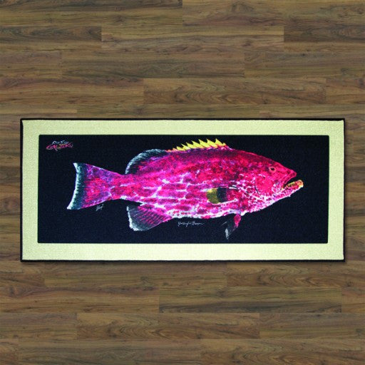 Realfish Yellowfin Grouper Floor Mat