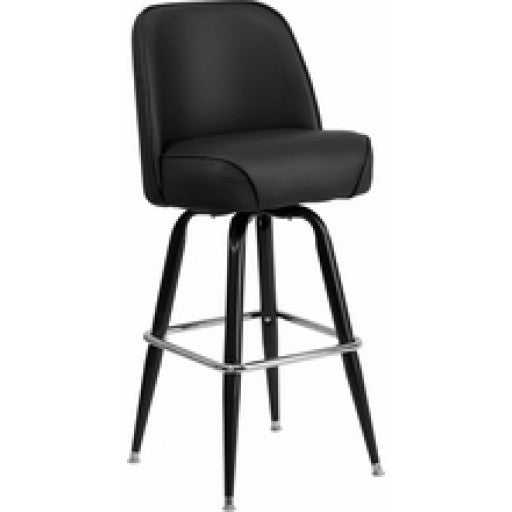 Swivel Metal Bar Stool with Bucket Seat