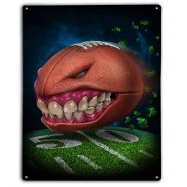 Monster Football Metal Sign