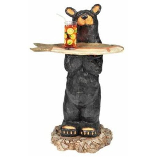 Outdoor Bear Statue with Tray