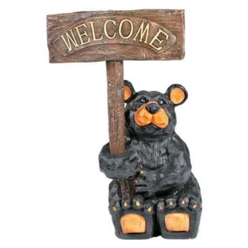 Outdoor Welcome Bear Statue