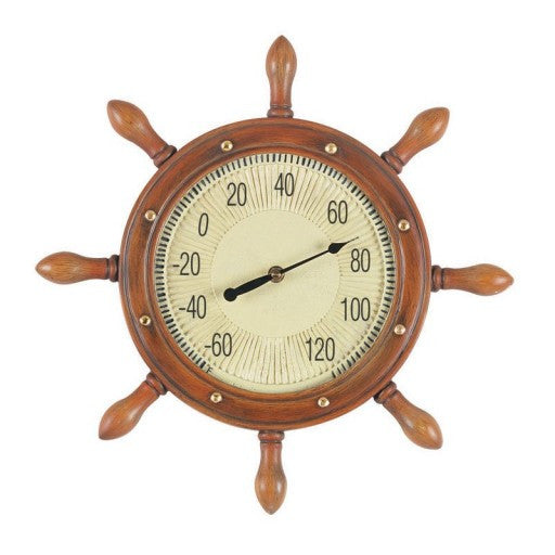 Outdoor Captains Wheel Thermometer