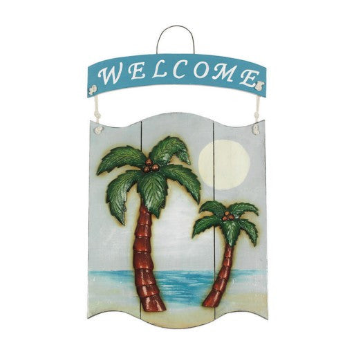 Outdoor Palms Welcome Sign
