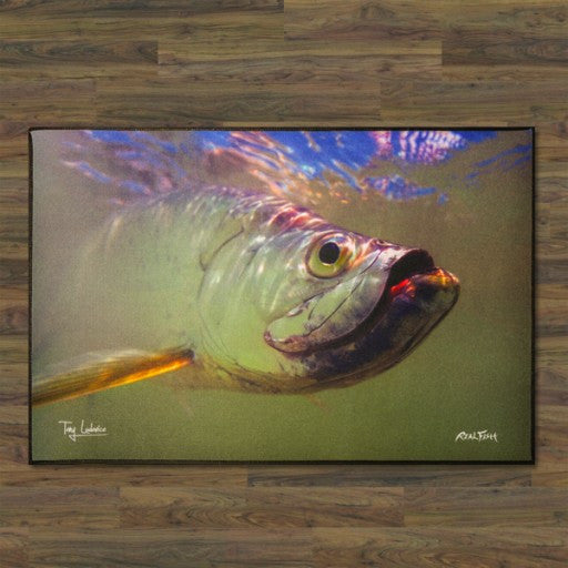"Tarpon ""Portrait of a King"" Floor Mat"