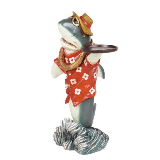 Shark Waiter Statue with Tray
