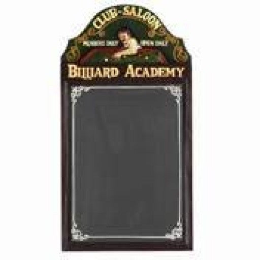 Billiard Academy Chalkboard Sign