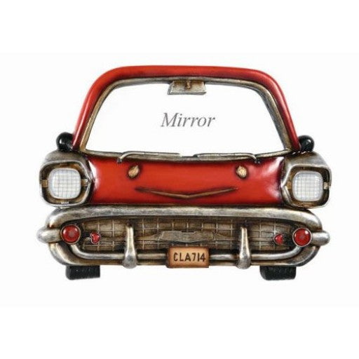 Red Car Mirror Sign