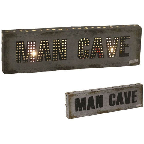 "21"" Man Cave Sign with Lights"
