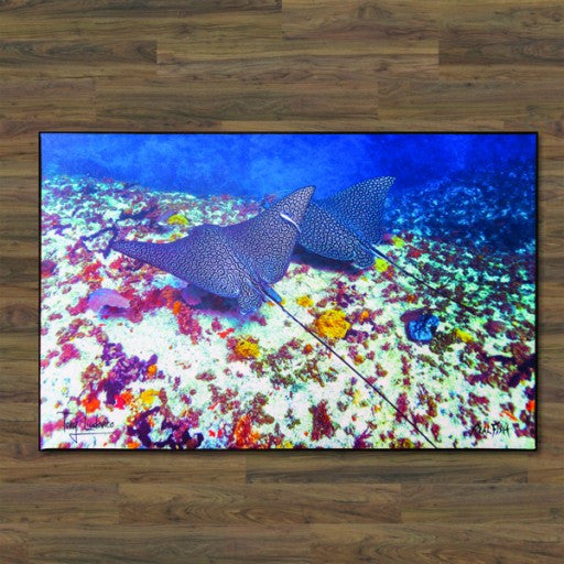 Leapord Rays Floor Mat