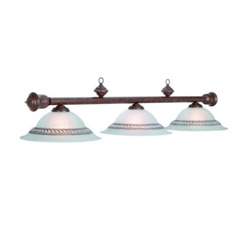 3-Light Old Brown Billiard Light