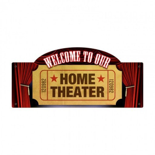 Home Theater Metal Sign