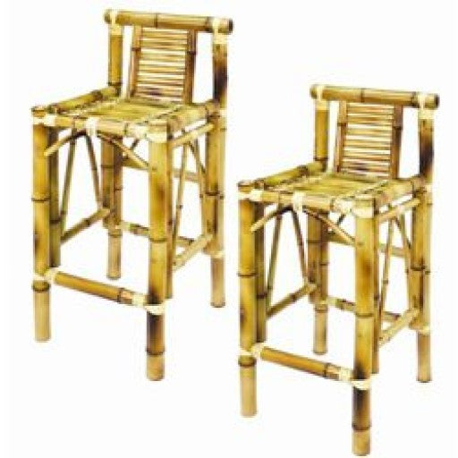 Bamboo Tiki Bar Stools - set of 2