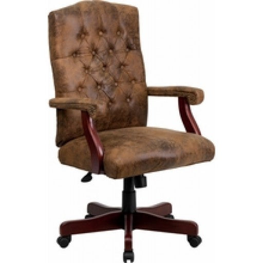 Bomber Brown Classic Executive Office Chair