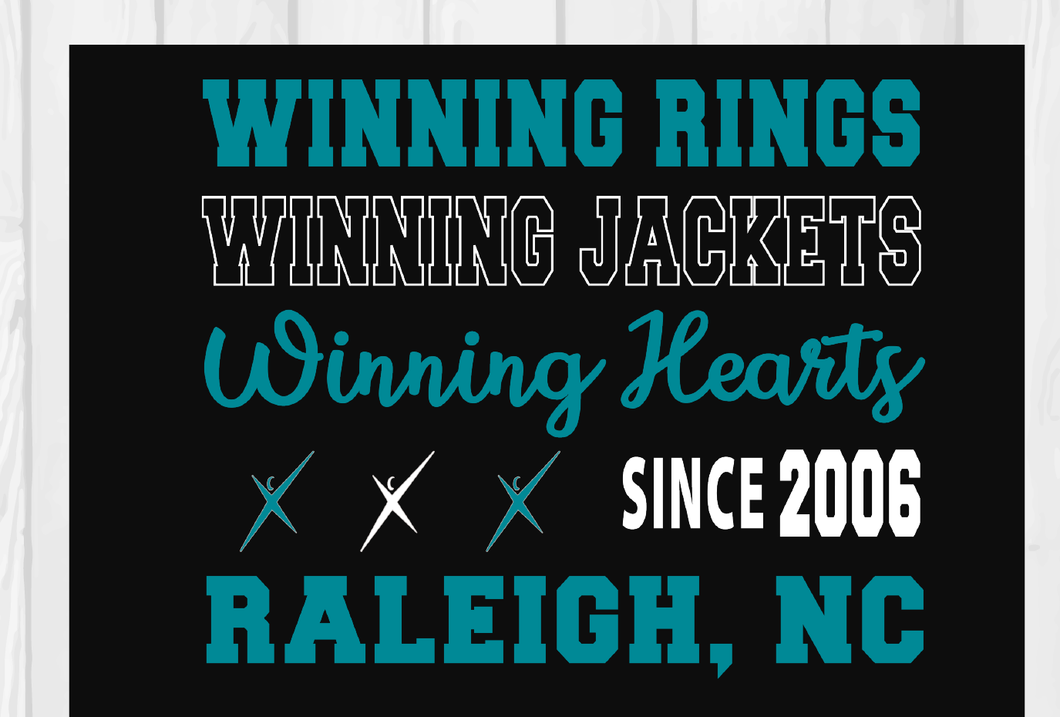 Winning Rings  Winning Jackets  Black Hoodie