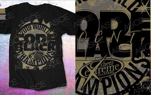 CODE BLACK- WORLD CHAMPIONS T-SHIRT