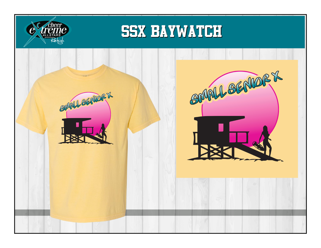 SSX Baywatch Yellow Short Sleeve T-Shirt