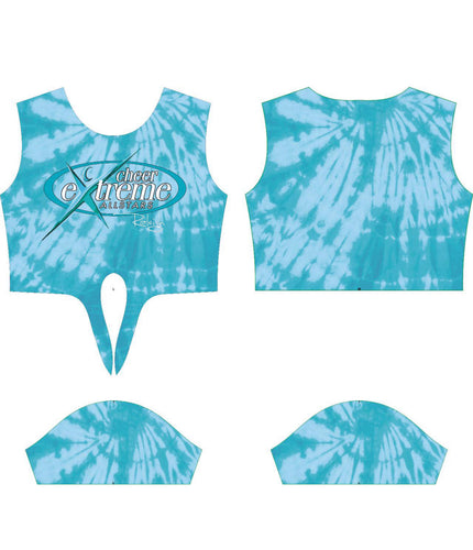 Teal Tie Dye Crop Top