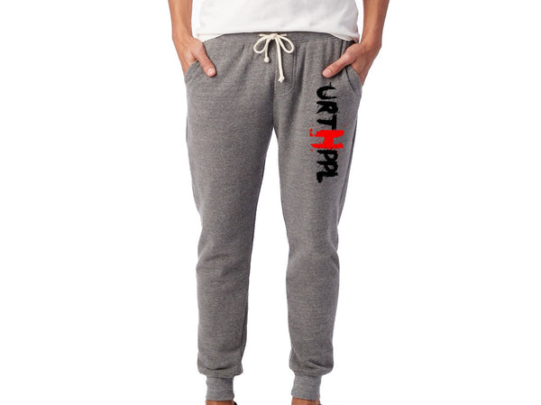 URTHPPL Logo Men's Eco-Fleece Joggers-Grey Triblend