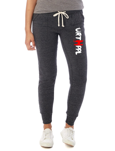 URTHPPL Logo Women's Eco-Fleece Joggers-Charcoal Black Triblend
