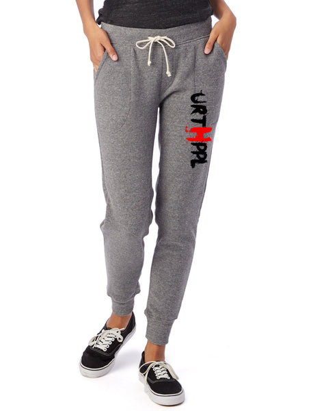 URTHPPL Logo Women's Eco-Fleece Joggers-Grey Triblend