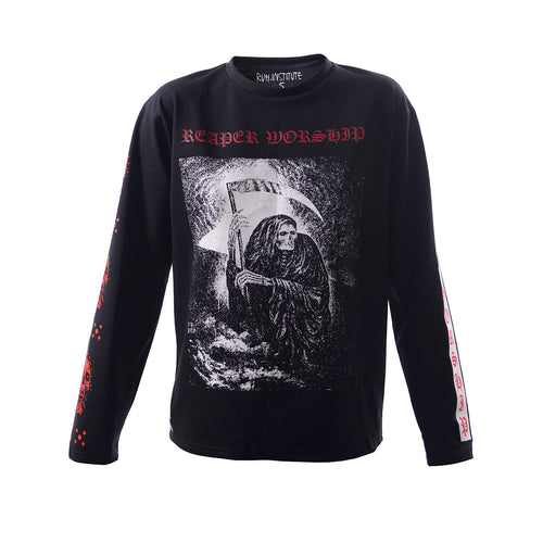 RUH.INSTITUTE X A.A.TATTOOER IN RED long sleeve