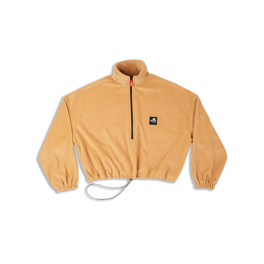 GOODBOIS OUTDOOR SPORTS CROP HALFZIP CREWNECK SAND