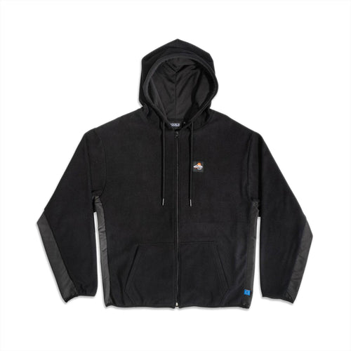 GOODBOIS OUTDOOR SPORTS FLEECE ZIP HOODIE BLACK