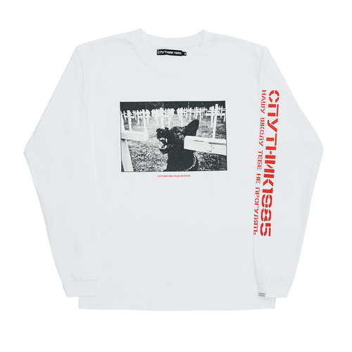SPUTNIK 1985 Angry B Long Sleeve White