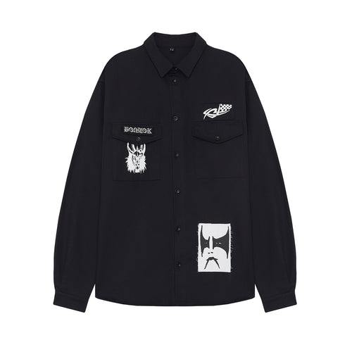 Volchok X Euthanasia Patched Shirt Black