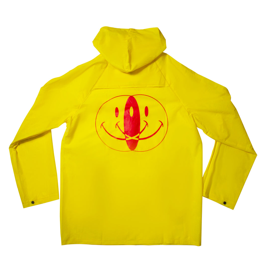 Endayz smiley raincoat yellow