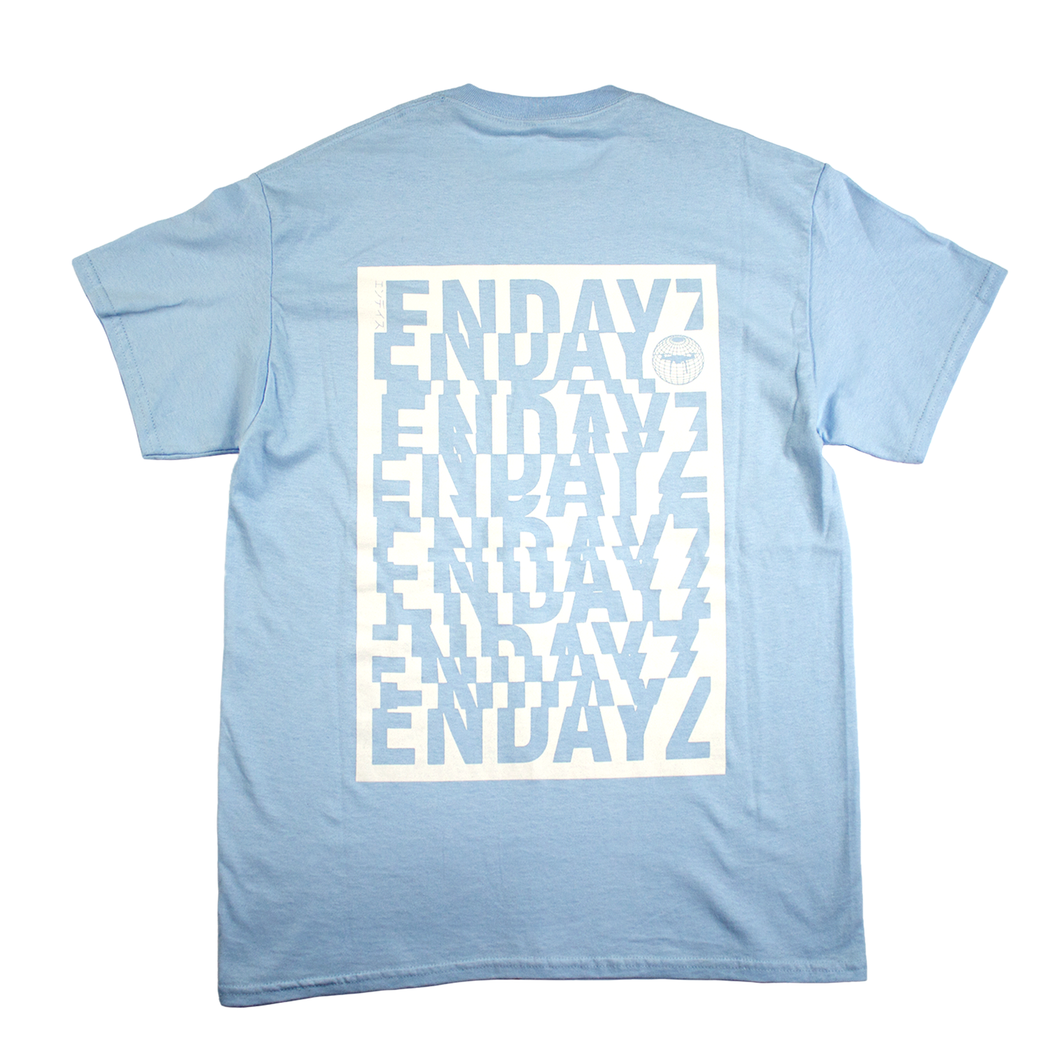 Endayz Glitch T-Shirt Light Blue